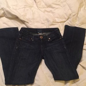 Immortality Dark Wash Jeans Size 26 with Bling